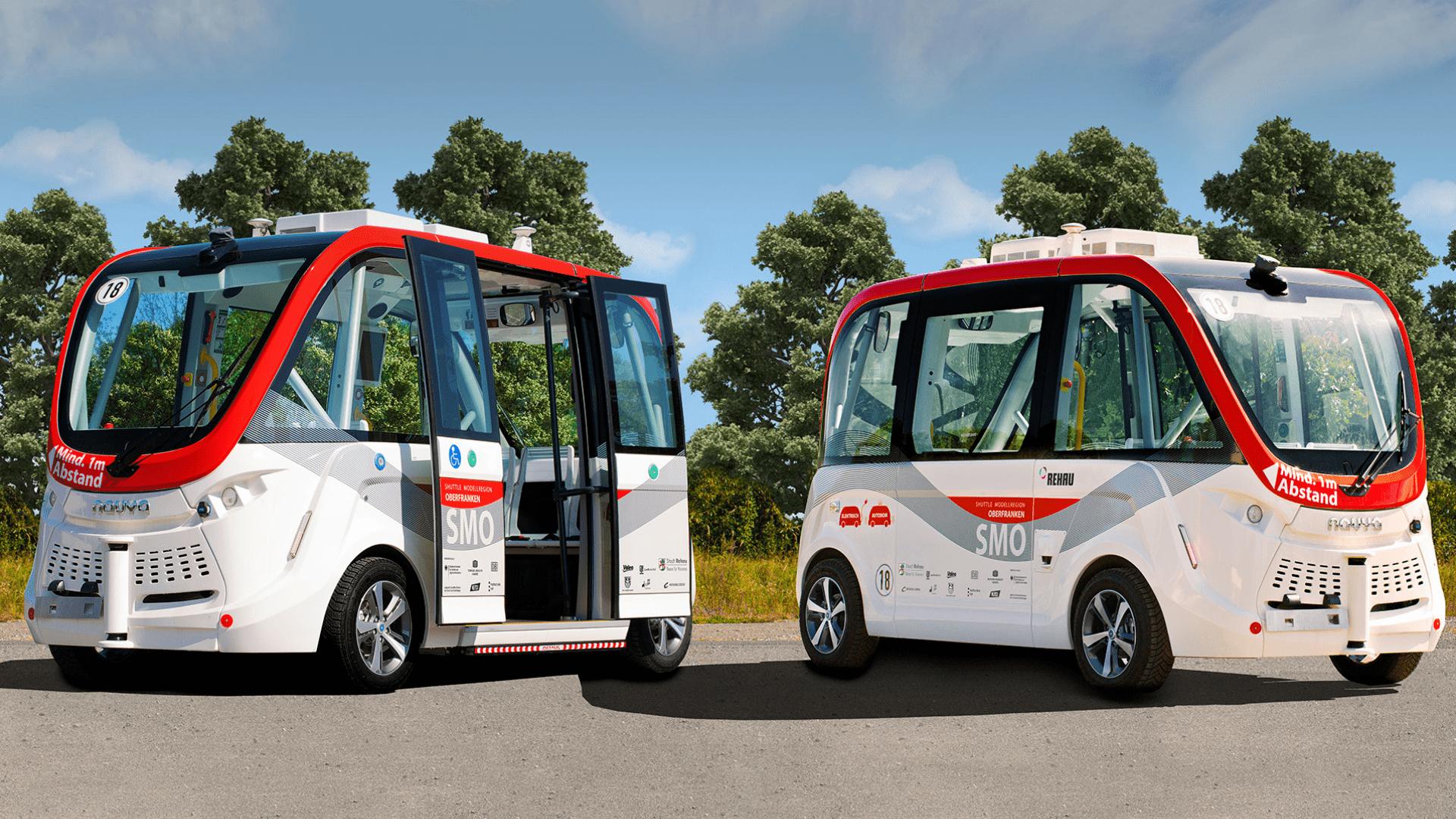 Autonomer Bus - SMO Shuttle Modellregion Oberfranken
