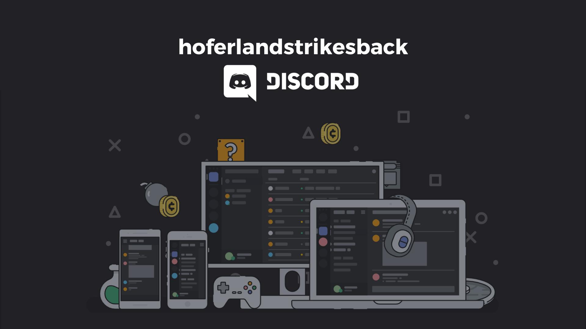 Jugendarbeit digital - Hoferlandstrikesback Discord-Server